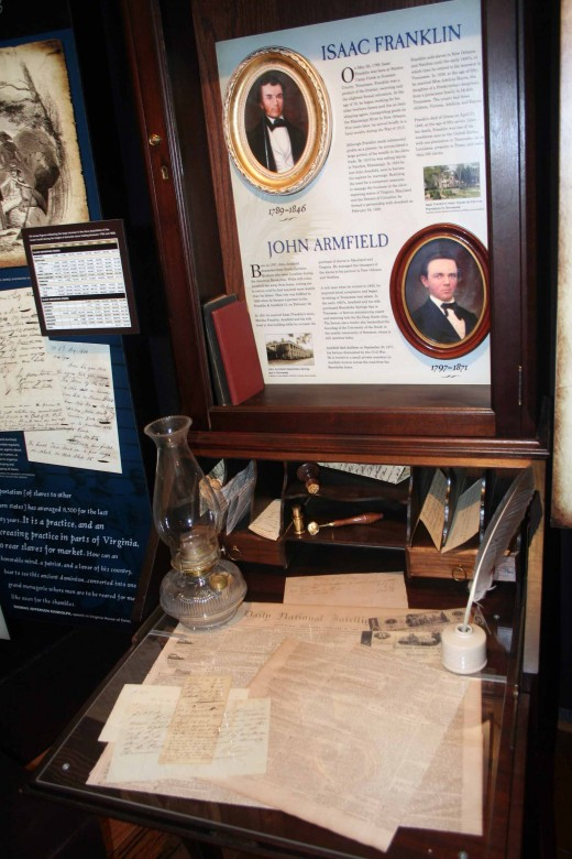 Desk Displays Original Documents Related to Slave Trade