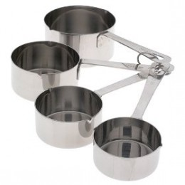 Amco 4 piece stainless steel measuring cups