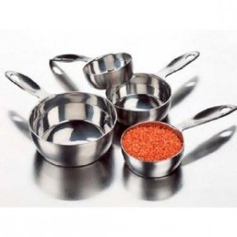 Stainless steel measuring cups - 4 piece set