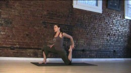 Quad Stretch - You can modify this by doing a standing quad stretch if this is way too intense. Push the foot and hand into each other to get a better stretch.