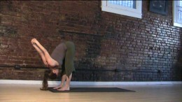 Shoulder Stretch - Lengthen the torso and take the head of the arm bones back so your shoulder blades come more onto your back. Keep the legs strong as they support you.