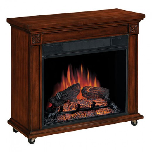 Berlin Roll and Heat Cherry Electric Fireplace