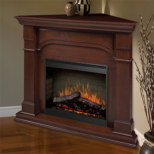 Dimplex Oxford Cherry Corner Electric Fireplace Mantel Package