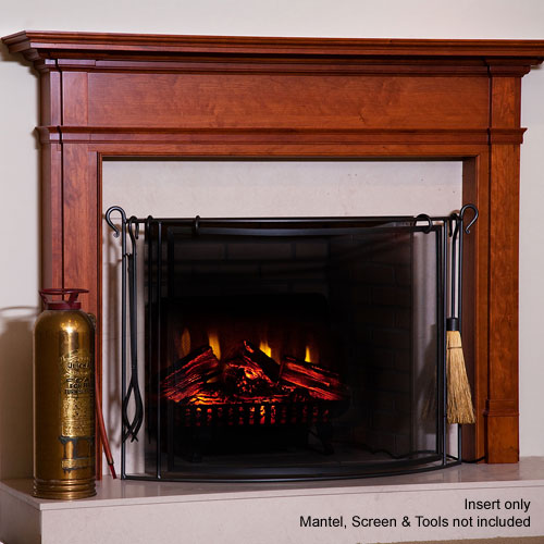 This electric fireplace insert is similar to the one I put into my home made fireplace.