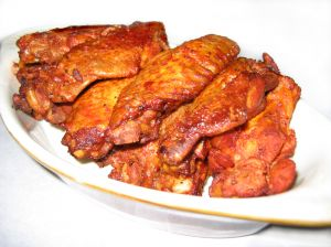 Buffalo-style baked chicken wings