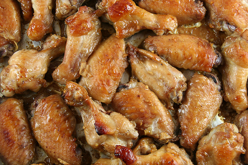 Teriyaki-style baked chicken wings