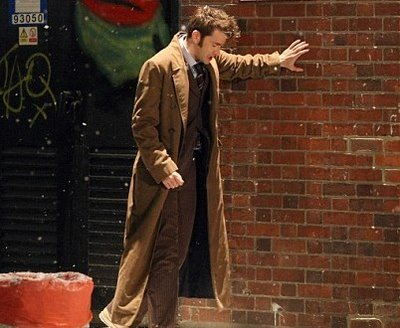 Doctor Who - The End Of Time    Too much to drink, no of course not! it's the end of David Tennants Doctor before he regenerates into Matt Smith.