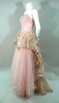Vintage Griffin tulle and silver crusted organza