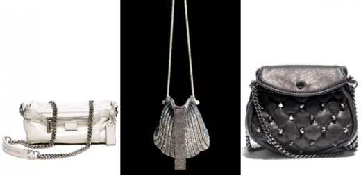 Silver evening bags from refinery29.com