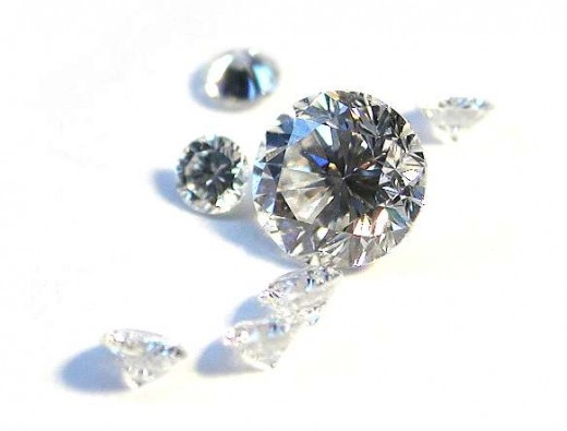 Diamonds of varying values and quality