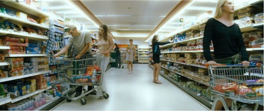 female shoppers prior to Ben's 'undressing with the eyes'