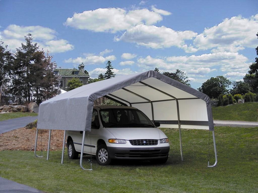 Portable 2 Car Carport : Small portable carport images metal steel