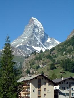 The beautiful Matterhorn mountain, as seen from Zermatt in Switzerland (image copyright WordCustard)