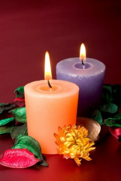 Make sure your aromatherapy or scented candles are made with organic, non-toxic materials.