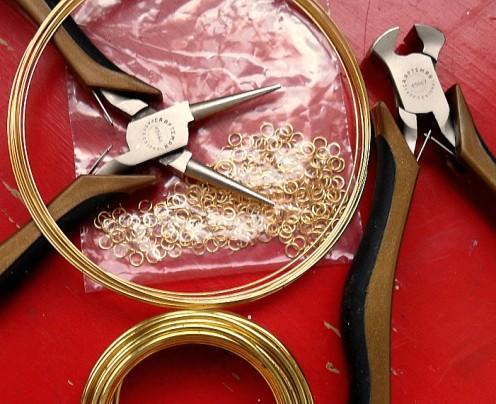 The odds are if you are making jewelry you already have the basic materials and tools to make your own jump rings