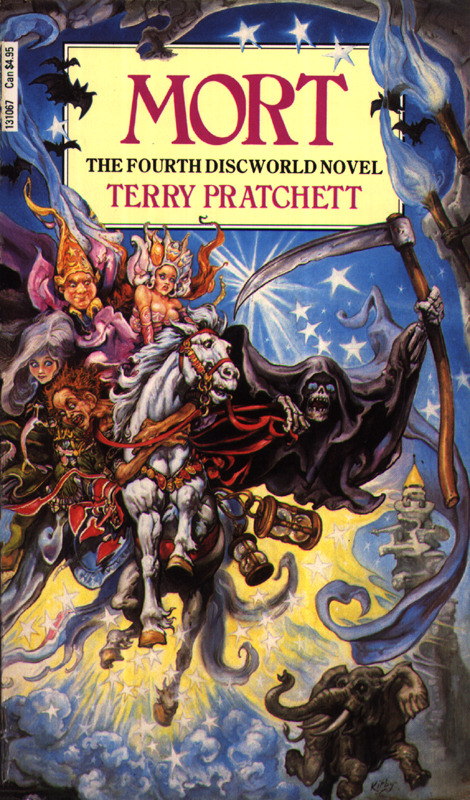 Mort takes the personification of Death in the Discworld series and gives him the quirky interest in humanity.