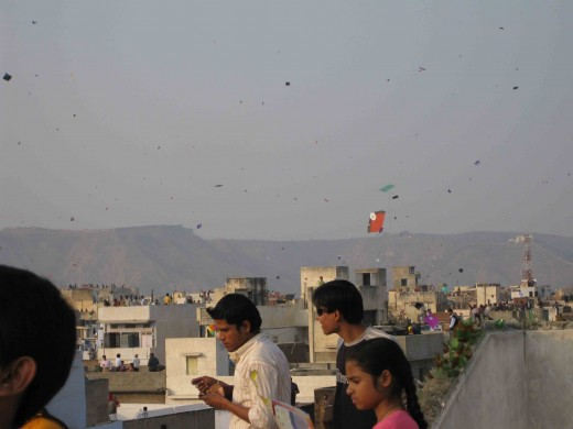 Kite festival, Roof top