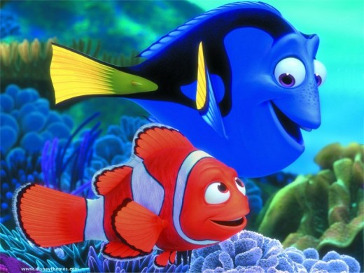 Marlin, a Ocellaris clownfish, takes extra care of his only child, Nemo, after his wife Coral and the rest of their eggs were eaten by a barracuda.