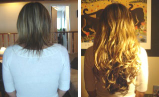 Before and After Hair Fusions