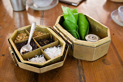 The elaborate paan box