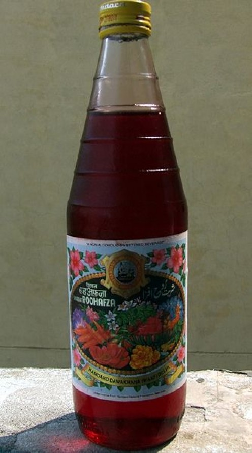 Rooh afza- rose syrup