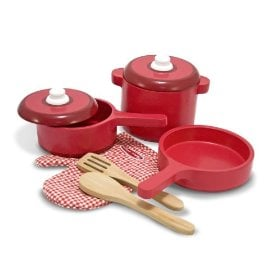 Melissa & Doug wooden toy cooking set