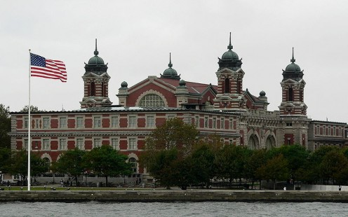 Ellis Island (photos this page, public domain)