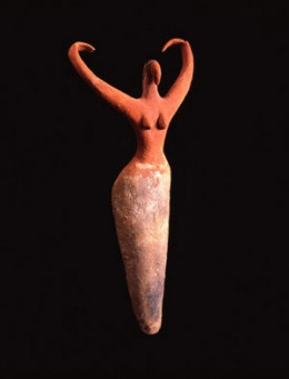 The Dancer  Painted terracotta statuette from Naqada II Period (3650-3300 BCE)  Image credit : bloggy.com