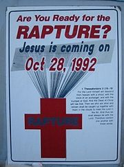 Poster for the Rapture in 1992 which didn't happen