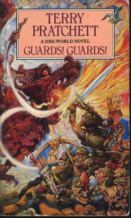 Guards! Guards! Introduces Samuel Vimes to the Discworld Series, and has become one of the most popular Discworld book topics of all time!