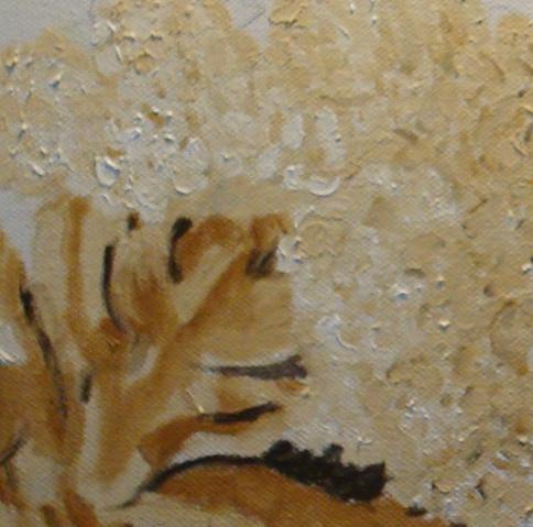Texture painting of cauliflower