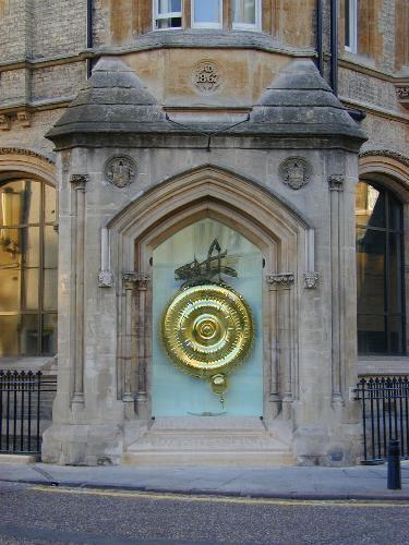 The Corpus Clock in its enclosure. image copyright cambridge2000.com