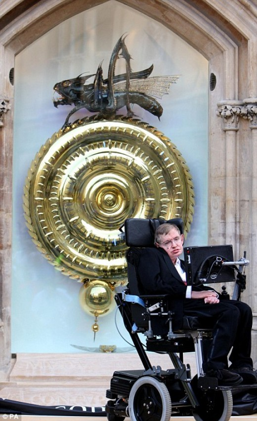 Stephen Hawking unveiling the Corpus Clock