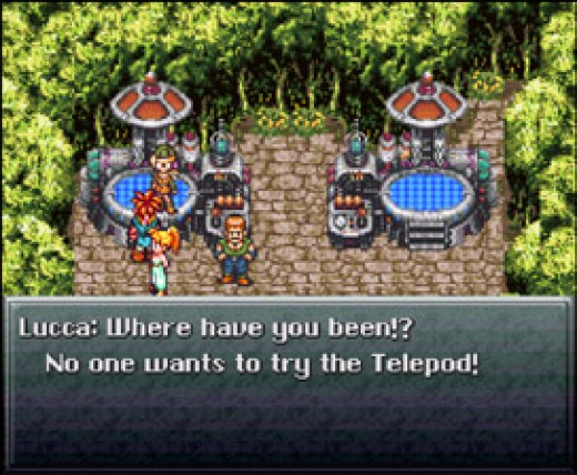 This is a screenshot from Chrono Trigger. This particular event starts off the entire plot of the game.
