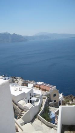 Photo: Ia village Santorini, Greece a view overlooking the caldera.