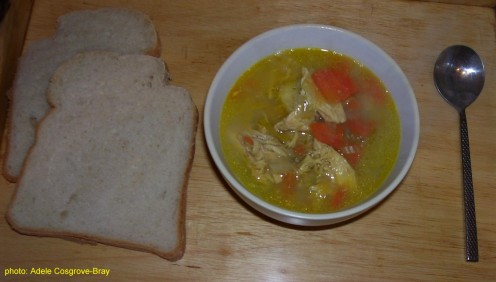 Easy to make!  Serve Farmhouse Chicken Soup with crusty breads such as Indian na'an bread or warm Italian focaccia bread!