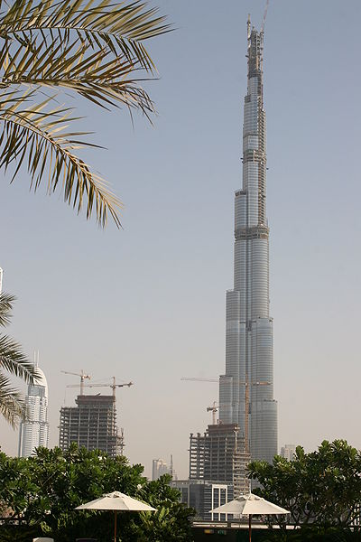 The World's tallest building the Burj Khalifa, Dubai, United Arab Emirates (UAE).