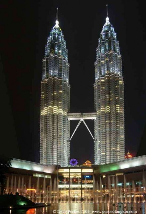 The third tallest building in the world Malaysia's Petronas Twin Towers or Twin Towers.