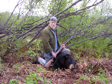 A successful hunt with a nice black bear.
