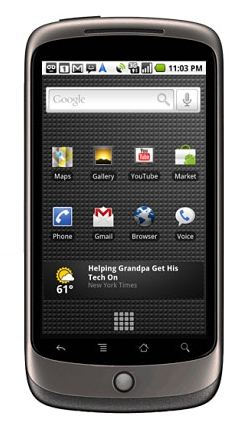 The Nexus One from HTC and Google