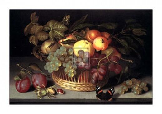 Beautiful art rendering of fresh fruit