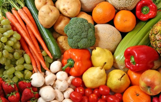 Healthy Fruit And Vegetables, good sources of Vitamin c.    Image by http://healthandfitnessnow.com/blog/uploaded_images/Fotolia_2930624_S-719460.jpg