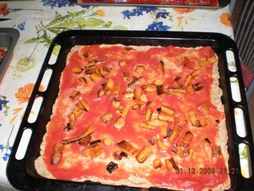 Carroty pizza