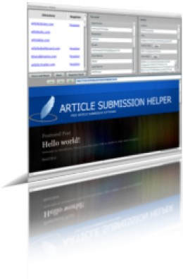 Article Submission Helper in action