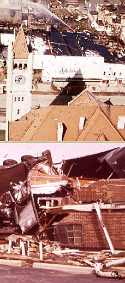 On April 3, 1974 300 miles per hour crazy winds flattened downtown Xenia.