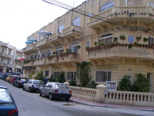styles of houses at Valetta, the capital city of Malta