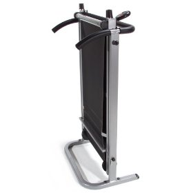 Cheap manual treadmill in the folded position