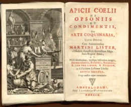 Oldest known cookbook 'Apicius de re Coquinaria'