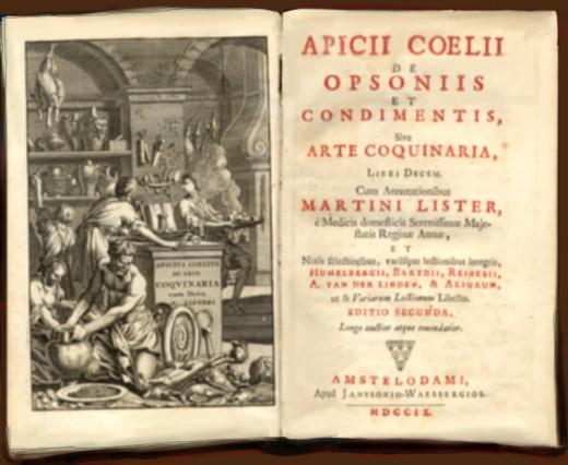 Oldest known cookbook 'Apicius de re Coquinaria'