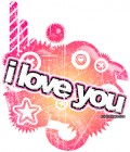 An Example of a I Love You graphic found at Dollie Crave.